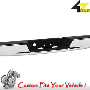 Perfect Match Rear Bumper Fits Ram 2500 2006 2008 Gtca15544 Chrome With Black P