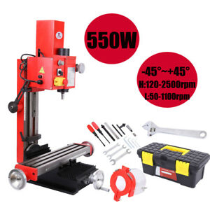 Mini Milling Drilling Machine W Gear Drive Variable Speed 550w Mt3 Spindle