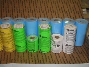 125 Rolls Of Pricing Labels For Monarch 1110 Gun