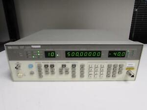 Hp 8656b Synthesized Signal Generator 0 1 To 990 Mhz Opt 001