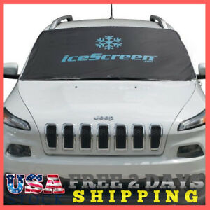 Icescreen Magnetic Windshield Frost Snow Cover Black Anti theft Feature New
