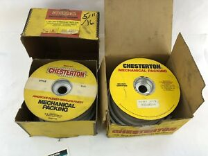 Lot Of 2 Boxes Chesterton 1722 White lon 5 16 8mm Interbraid Mechanical Packing