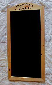 24x48 Wood Frame Chalk Menu Board With Your Business Name Restaurant Cafe Bar