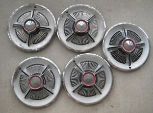 Vintage 1965 Ford Galaxie 500xl Hub Caps 15 Spinner Wheel Covers Lot Set Of 5