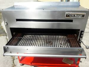 Salamander Broiler gas Or Lp Cheese Melter W heavy Wall Mount Bracket Us Range