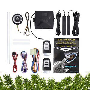 9pcs Safety Car Keyless Entry Alarm Start System Push Button Remote Starter Kit