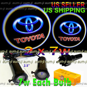 2x7w Ghost Shadow Laser Projector Logo Cree Led Light Courtesy Door Step Toyota