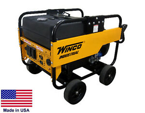 Portable Generator 12 000 Watt 120 240v 21 Hp Honda Elect Start Carb