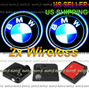 2x Wireless Ghost Shadow Laser Projector Logo Door Step Led Light Courtesy Bmw