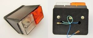 2x Front Side Indicator Flasher Lamp Case International Fiat Tractors 12v