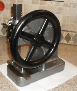 Famco Arbor Press Model E With Wheel Table Top Usa Free Shipping