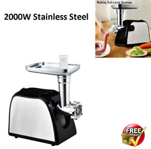 Electric Meat Grinder Sausage Filling Machine Stuffer Meatball Maker Cook Tool