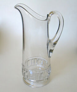 Antique Tall Glass Pitcher 12 25 Gentleman S Pitcher Pressed Glass Eapg
