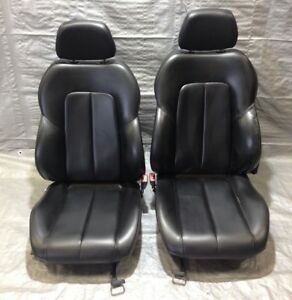 2005 2007 Chrysler Crossfire Black Leather Manual Seats Pair Oem Cf018