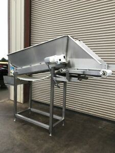 18 X 9 Long Stainless Incline Cleated Belt Food Conveyor 4 Conveying
