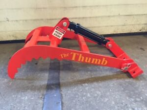 New Bucket Thumb Grapple For Skid Steer Loader Tractor large 32 Or 36