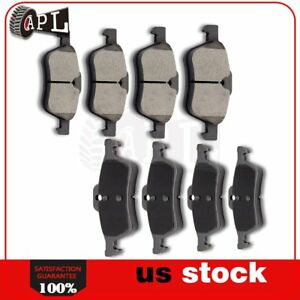 Front Rear Ceramic Brake Pads For 2002 2003 2004 2005 2006 2007 2008 Cooper 8x