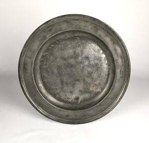 Antique Pewter Large 15 Charger Plate Richard Going Georgian Early 18th Century