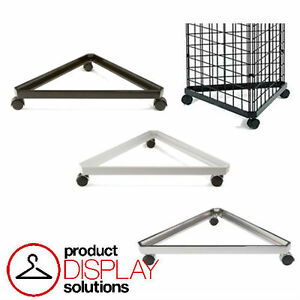 Free Shipping Grid Gridwall Triangle Base W Casters Grid Stand Bl wh Or Ch