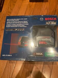 new Bosch Gcl 2 160s Self leveling Cross line Laser With Plum Points 65ft 20m