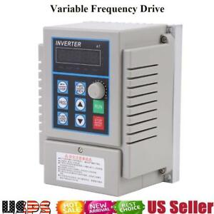 Variable Frequency Drive Inverter Vfd 0 75kw Ac 220v Speed Controller Usa Stock