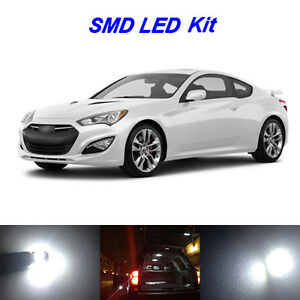 10 X White Led Bulbs For 2013 2016 Genesis Coupe Fog Reverse Tag Interior Light