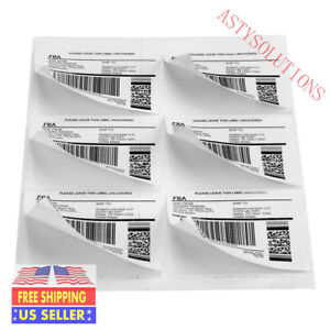 3600 6up Shipping Address Labels 4x3 33 6 Per Sheet Amazon Fba Label 600 Sheets