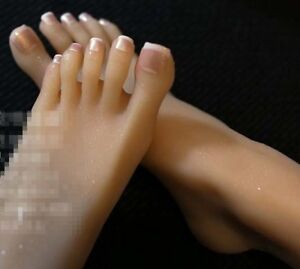 New Lifesize Realistic Silicone Foot Mannequin Fetish 1 Pair Jewelry Display 17