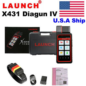 Usa Stock New Released Launch X431 Diagun Iv Obd Diagnostic Tool Car Code Reader