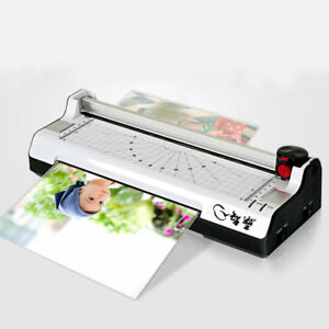Hot Cold Lamination Machine Thermal Laminator Office Home A4 Quick Warm Up