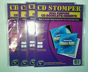 Cd Stomper Dual Purpose Cd Booklets Or Inserts Lot Of 4 Packages Of 10 Sheets