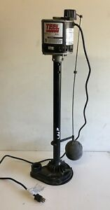 Teel 3p611e Upright Pedestal Sump Pump Non submersible 1 3hp 115v