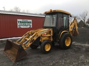 2006 John Deere 110 4x4 Hydro Compact Tractor Loader Backhoe W Cab