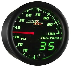 Maxtow Double Vision 100 Psi Fuel Pressure Gauge Kit Includes Electronic