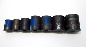 Armstrong 1 2 Drive 6 Point 7 Pc Impact Socket Set 13 16 1 3 8 Made In Usa