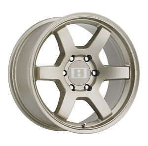 16x8 Level 8 Mk6 Bronze Wheels 6x5 5 0mm Set Of 4