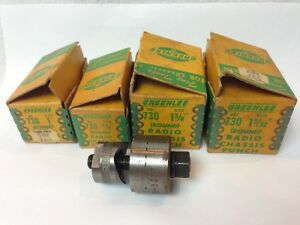 Vtg Lot Of 4 Greenlee 730 Radio Chassis Knock Out Punch 1 38 1 5 32 1 5 8
