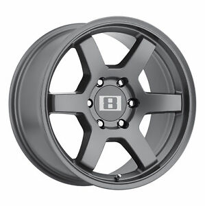 17x8 Level 8 Mk6 Gunmetal Wheels 6x5 5 10mm Set Of 4