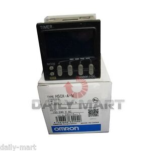 Omron H5cx a n H5cxan 100 240vac Timer Original New In Box Nib Free Ship