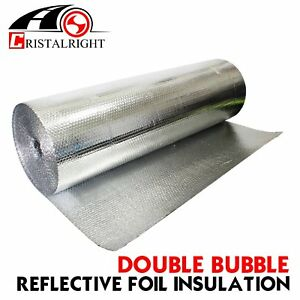 Precut Double Foil Air Bubble Cell Wall Insulation Reflective Properties Silver
