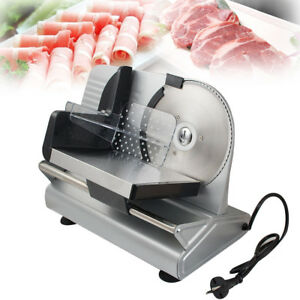 7 5 Electric Meat Slicer Steel Deli Cheese Cutter Food Slicer Restaurant 150w
