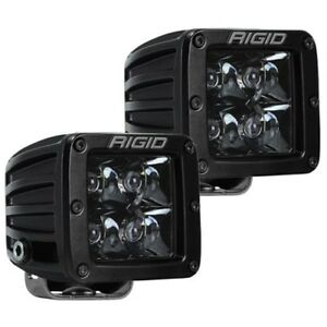 Rigid Industries 202213blk D Series Midnight Edition White Led Spot Light Pair