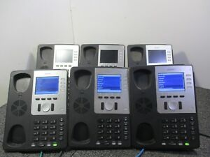Lot Of 6 Snom 821 Voip Business Phones W Cord Stand T7 b6