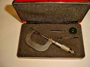 Starrett No 1212 Stainless Micrometer 1 2 With Case