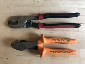 2 Klein Tools J63050 Journeyman High leverage Cable Cutters