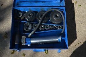 Current Tools Model 154 1 2 To 4 Hydraulic Punch Set Greenlee 7310sb