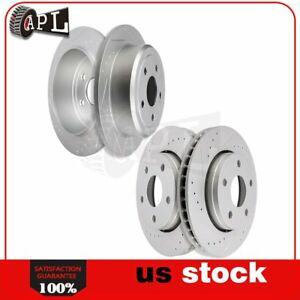 Front Rear Brake Discs Rotors For 2007 2014 2015 Jeep Wrangler Drilled Slotted