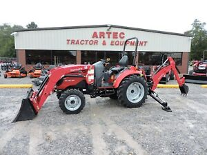 2016 Mahindra 1533 4wd Tractor With Loader Backhoe Factory Warranty