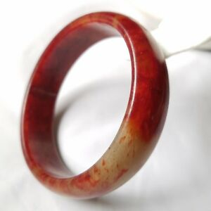 Natural Color Chinese Jade Carving Bangle Bracelet Id 57 9mm