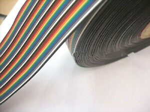 1m 1 Meter Of 40 Way Flat Rainbow Color Ribbon Cable Idc 1 27mm